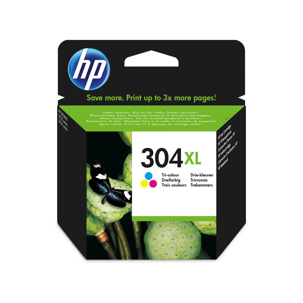 Inkjet HP N9K07AE No.304XL pre DeskJet 2620, 2630, 2632, 2633, 3720, 3730 (300 str.) farebný XL
