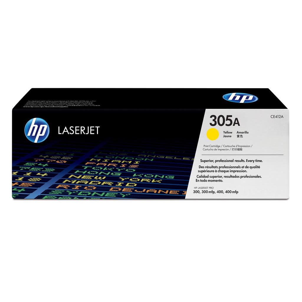 Toner HP CE412A No.305A pre LaserJet Pro300 M351a, M451, M475 (2.600 str.) Yellow
