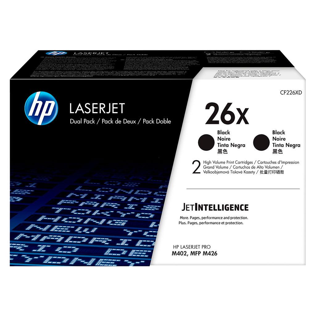 Toner HP CF226XD No.26X pre LaserJet Pro M402, Pro MFP M426 (2x9.000 str.) dual pack