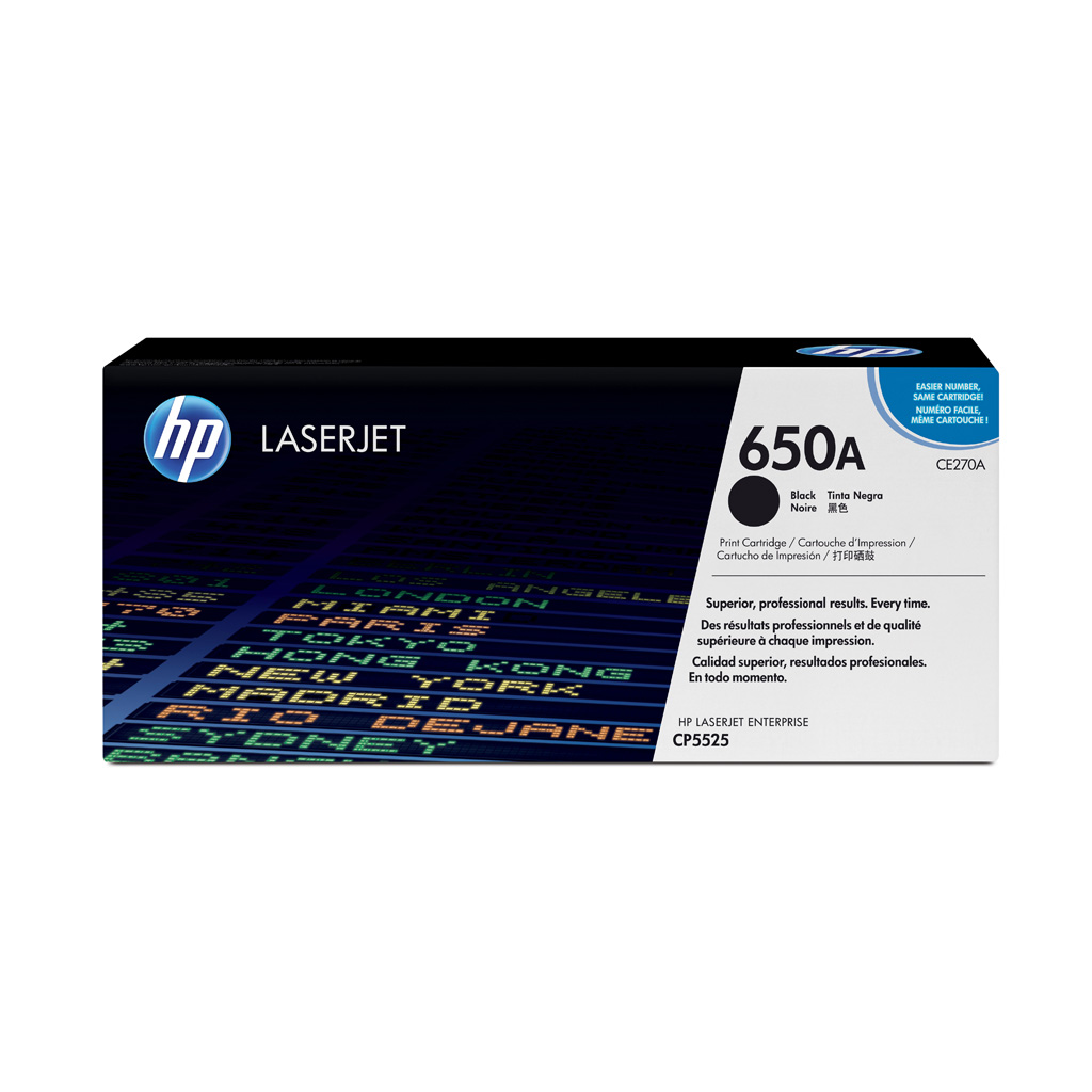 Toner HP CE270A No.650A pre HP LaserJet CP5525 (13.500 str.) Black