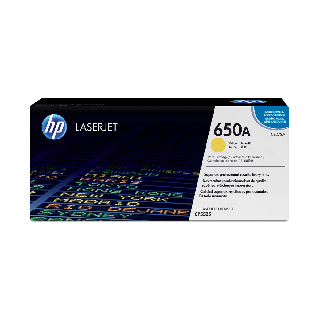 Toner HP CE272A No.650A pre HP LaserJet CP5525 (15.000 str.) Yellow