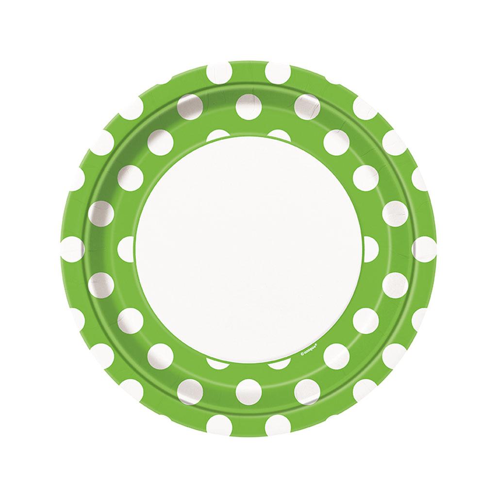 """Tanierik """"zelené bodky"""", 8 ks"""