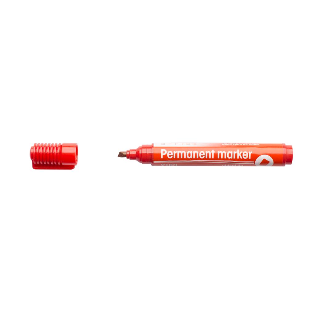 Popisovač permanent 2160, zrezaný hrot 1-5 mm, červený
