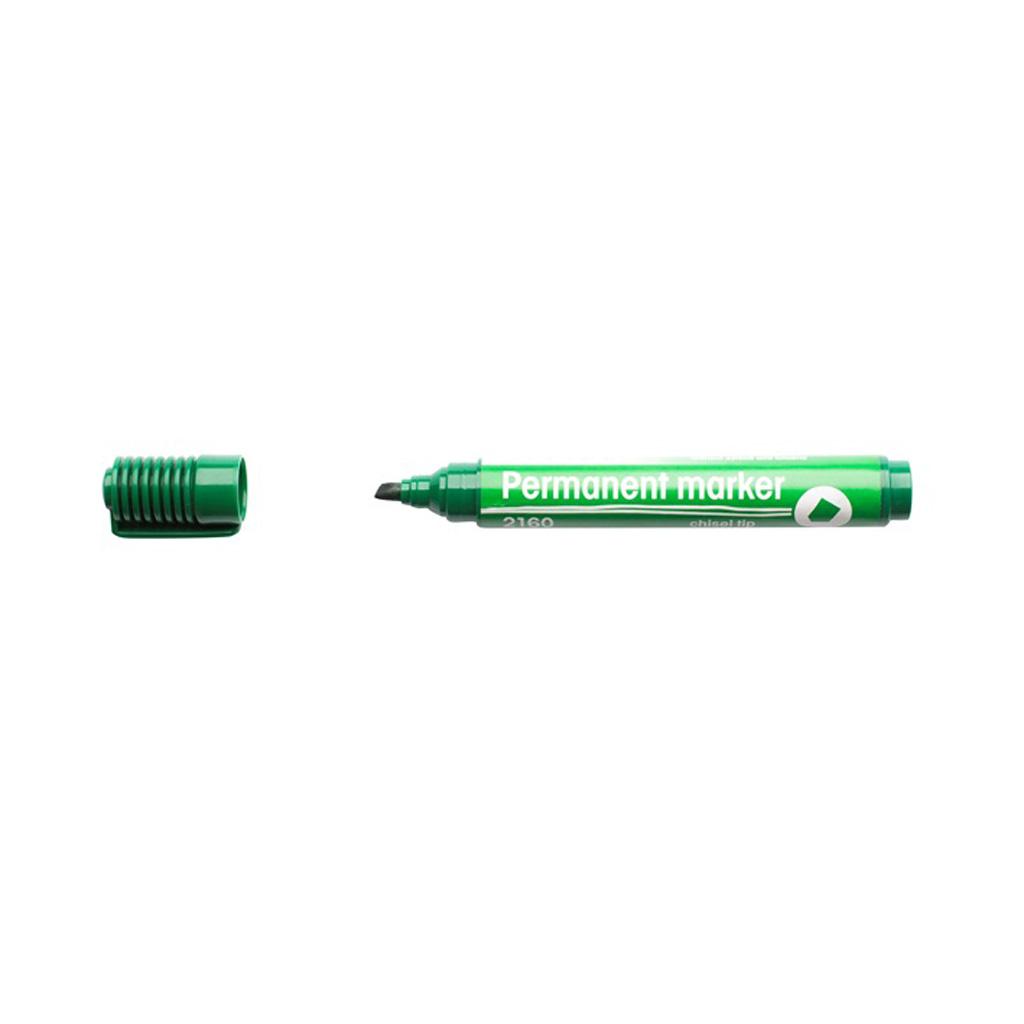 Popisovač permanent 2160, zrezaný hrot 1-5 mm, zelený