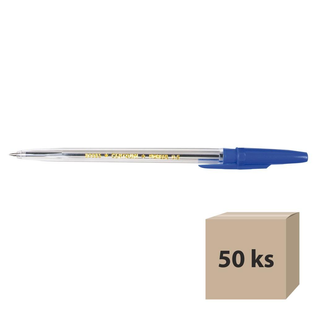Guľôčkové pero, modré, 50 ks