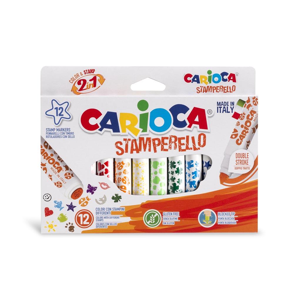 Carioca Fixky STAMPERELLO s pečiatkami 2 in 1 / 12 ks