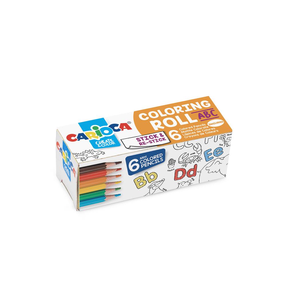 Carioca omaľovanka, samolep. rolka + 6 farbičiek - mix motívov