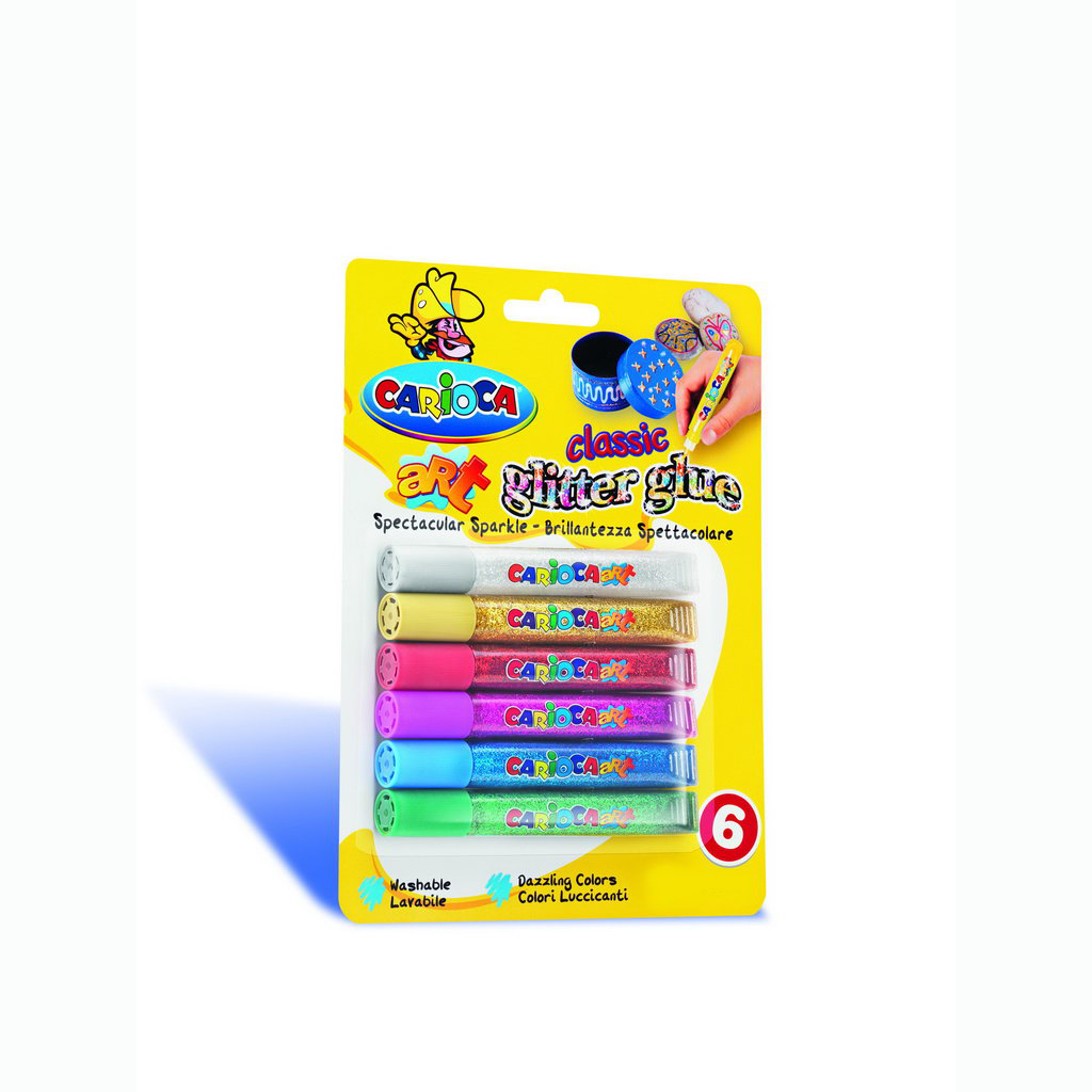 Carioca Glitter Glue Colour Farby 10,5 ml / 6 ks