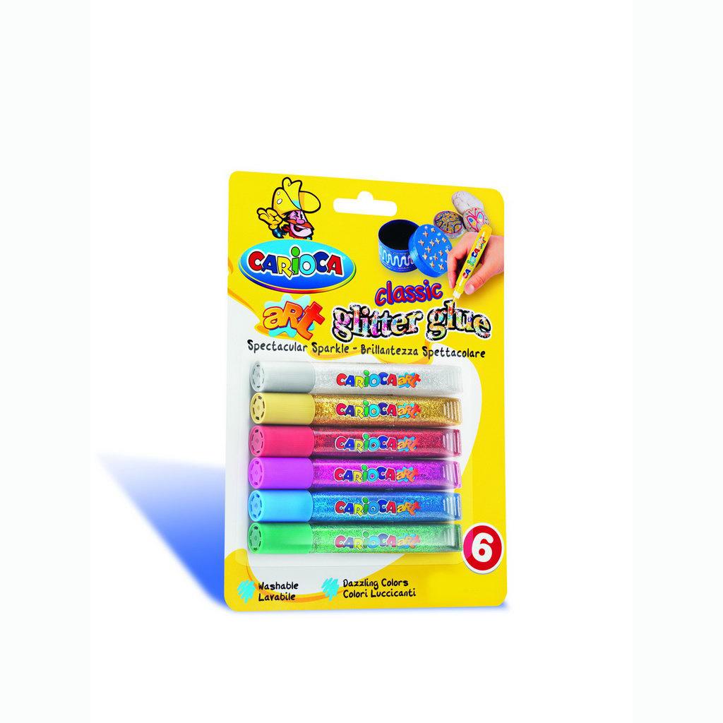 Carioca Glitter Glue Colour Farby 10,5 ml / 6 ks