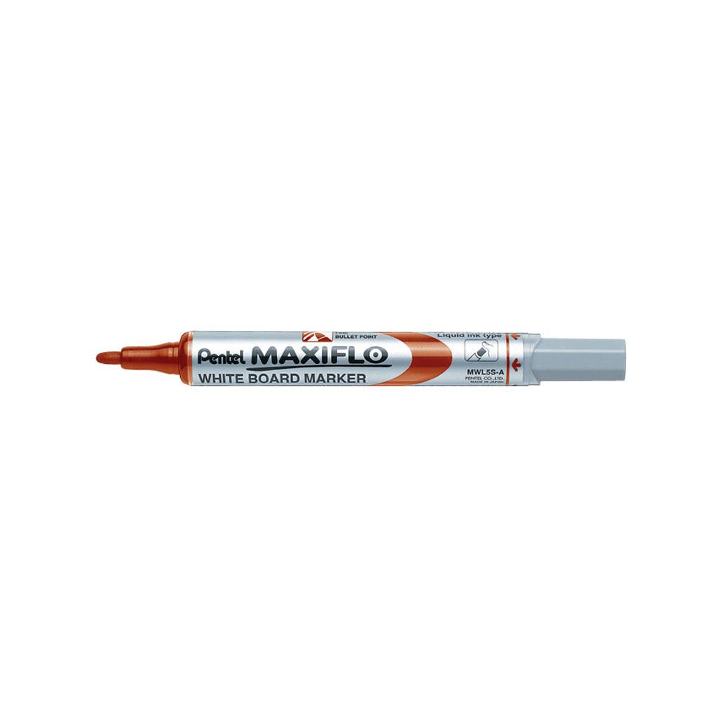 Pentel Popisovač na biele tabule Maxiflo MWL5S-B, okrúhly hrot 4 mm, červený