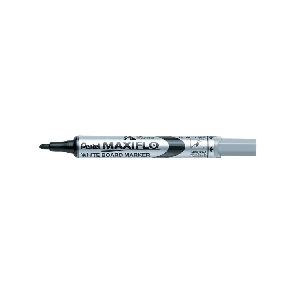 Pentel Popisovač na biele tabule Maxiflo MWL5S-A, okrúhly hrot 4 mm, čierny