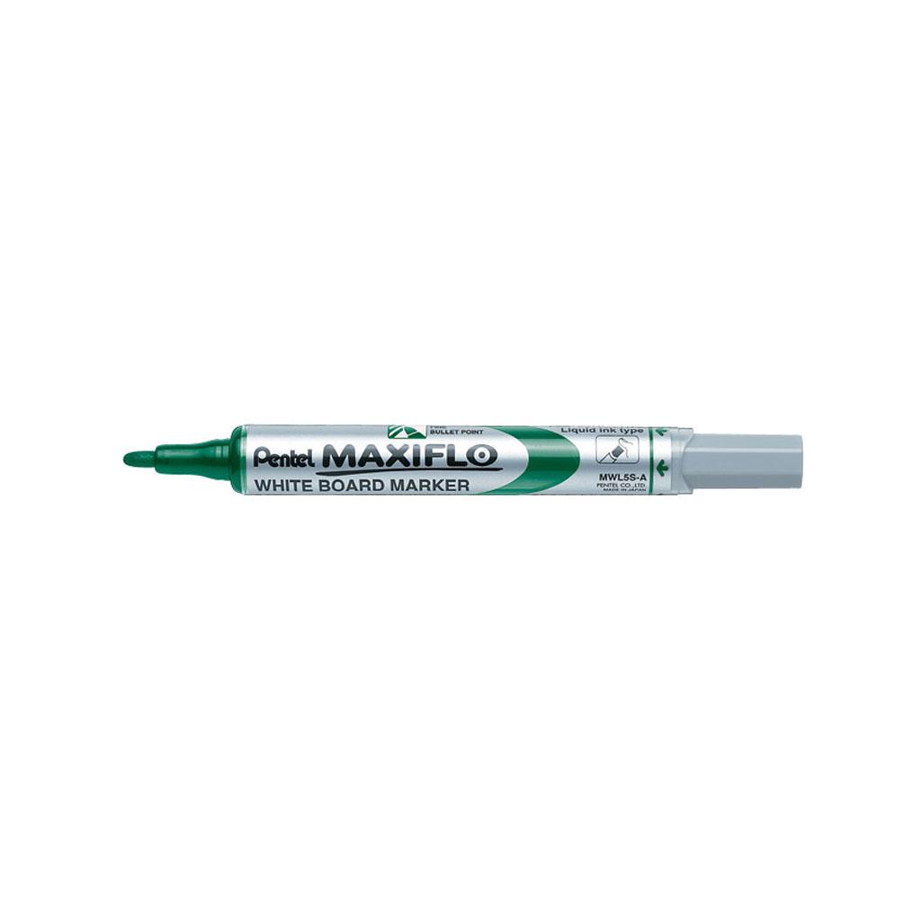 Pentel Popisovač na biele tabule Maxiflo MWL5S-D, okrúhly hrot 4 mm, zelený