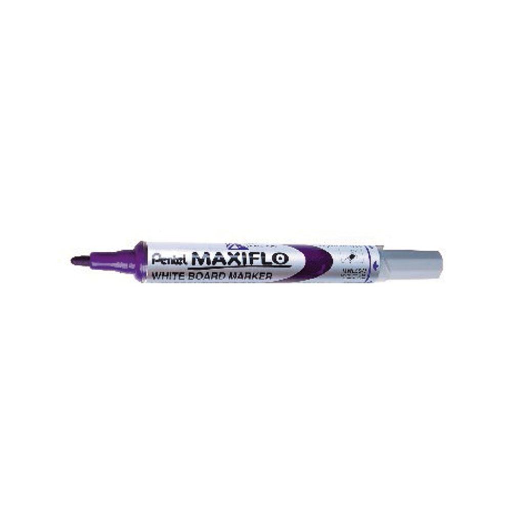 Pentel Popisovač na biele tabule Maxiflo MWL5S-E, okrúhly hrot 4 mm, fialový