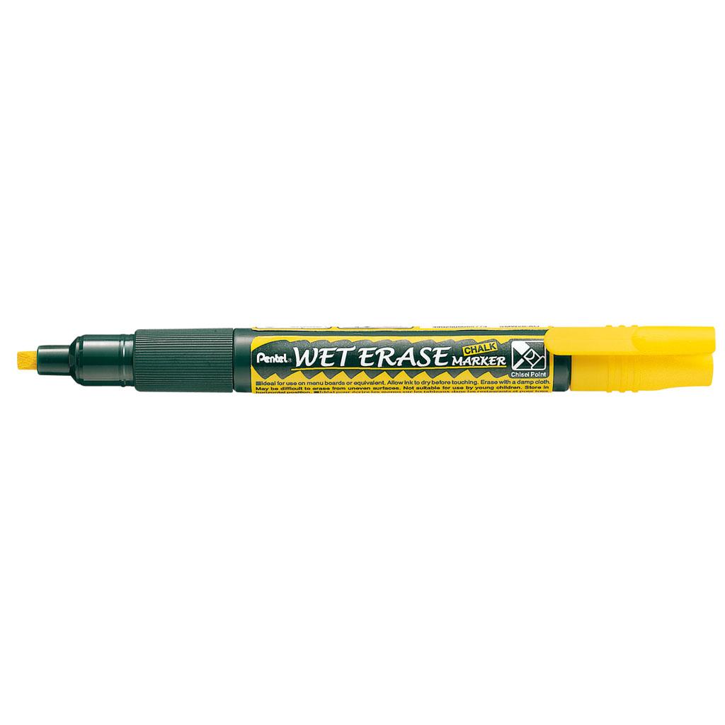 Pentel Popisovač na sklo Arts Weterase SMW26-G, zrezaný hrot 2-4 mm, žltý