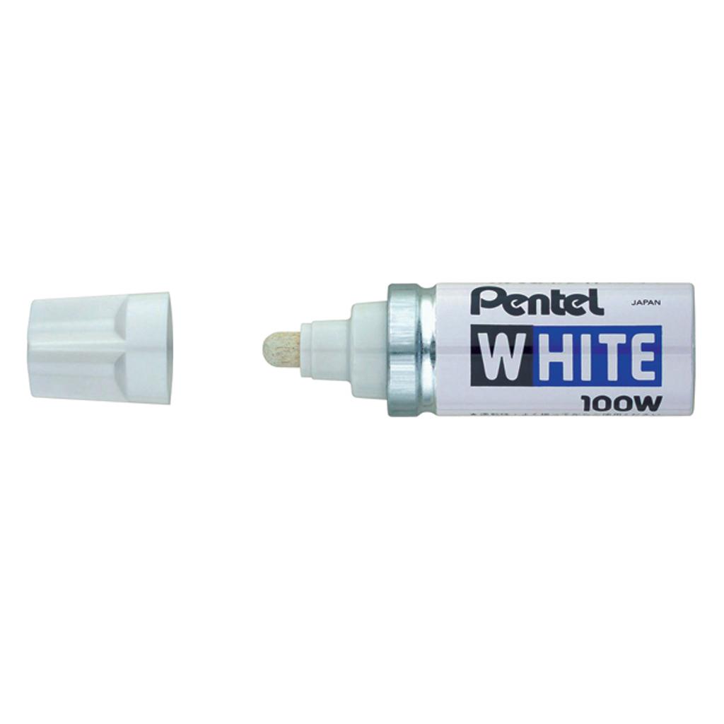 Pentel Popisovač permanent X100-W, okrúhly hrot 6,5 mm, biely