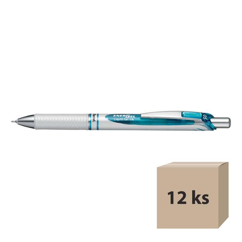 Pentel Tekutý gelový roller Energel BLN75W-C, modrá, 12 ks