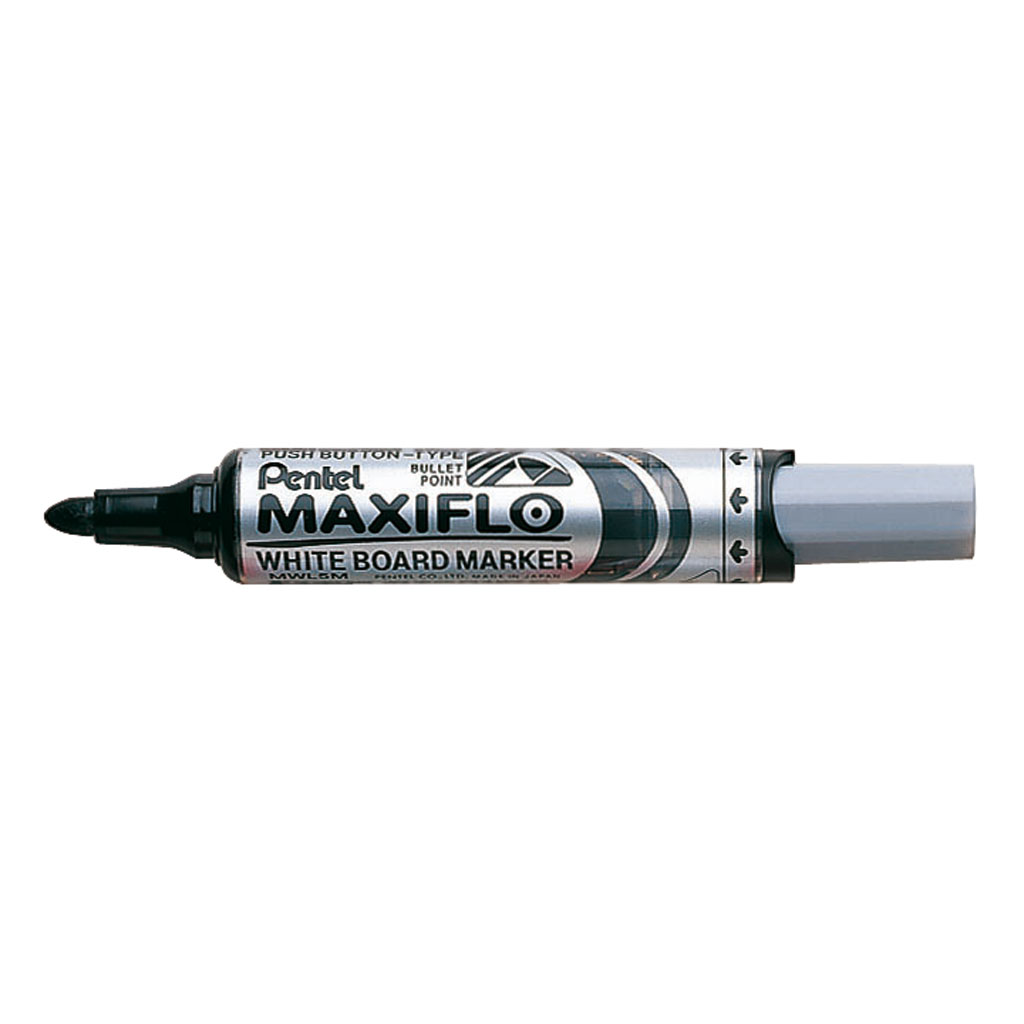 Pentel Popisovač na biele tabule Maxiflo MWL5M-A, okrúhly hrot 6 mm, čierny