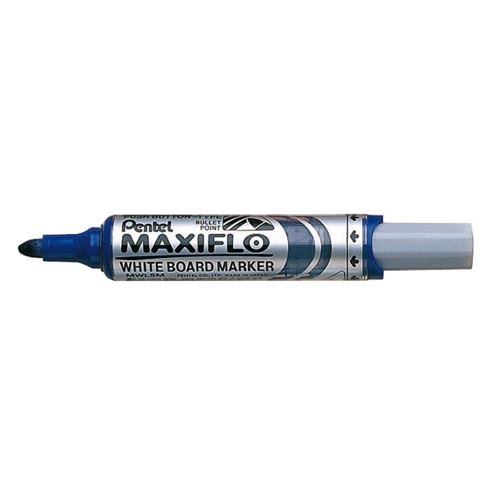 Pentel Popisovač na biele tabule Maxiflo MWL5M-C, okrúhly hrot 6 mm, modrý