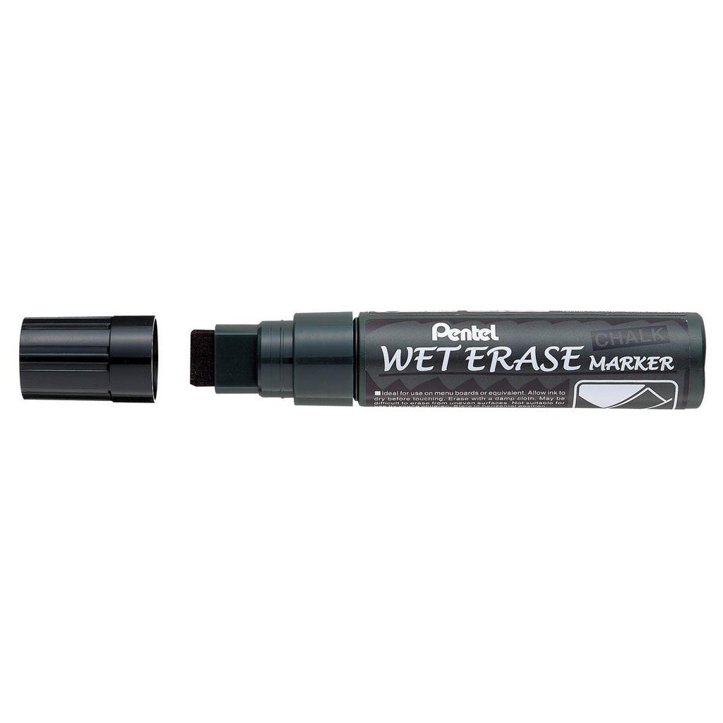 Pentel Popisovač na sklo Arts Weterase SMW56-A, zrezaný hrot 10-15 mm, čierny