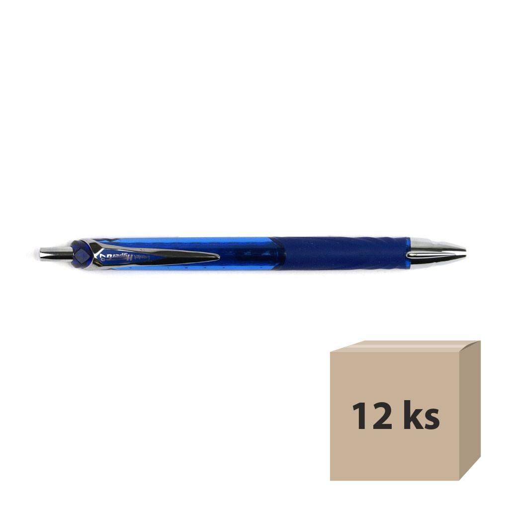 Pentel Gelový roller HyperG KL257-C, modrý, 12 ks