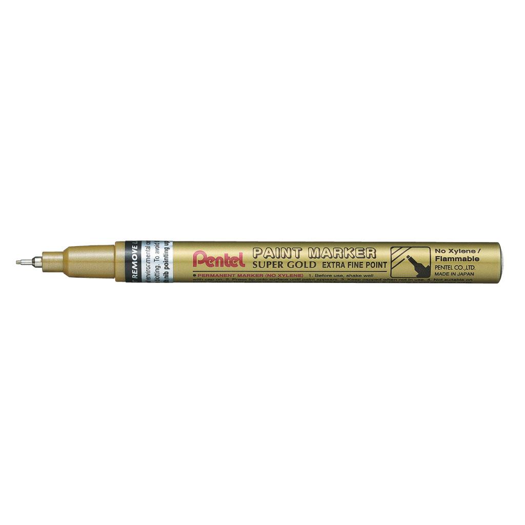 Pentel Popisovač permanent, MFP10-X, hrot 0,7 mm, zlatý