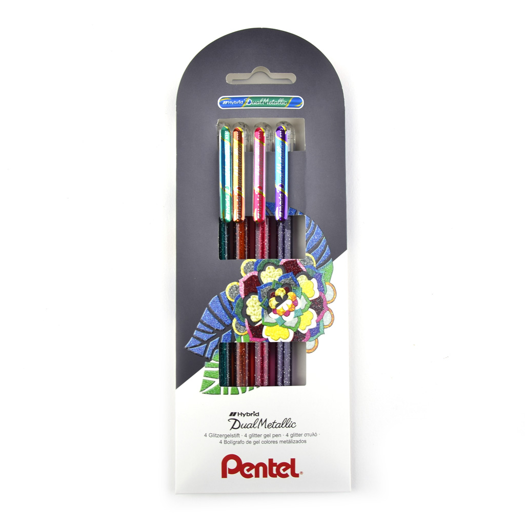 Pentel Arts Gel. pero Dual Metallic K110-4COL / 4ks