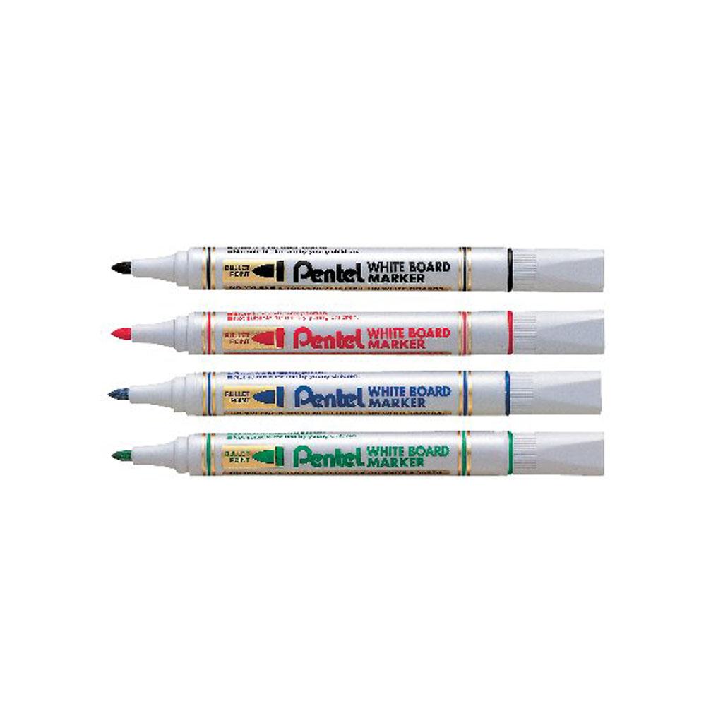 Pentel Popisovač na biele tabule, okrúhly hrot 2mm / 12ks, mix farieb