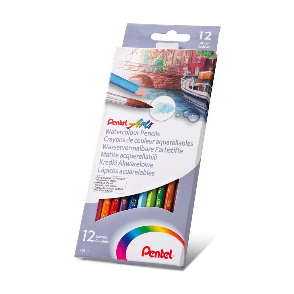 Pentel Arts Farbičky akvarelové / 12 ks