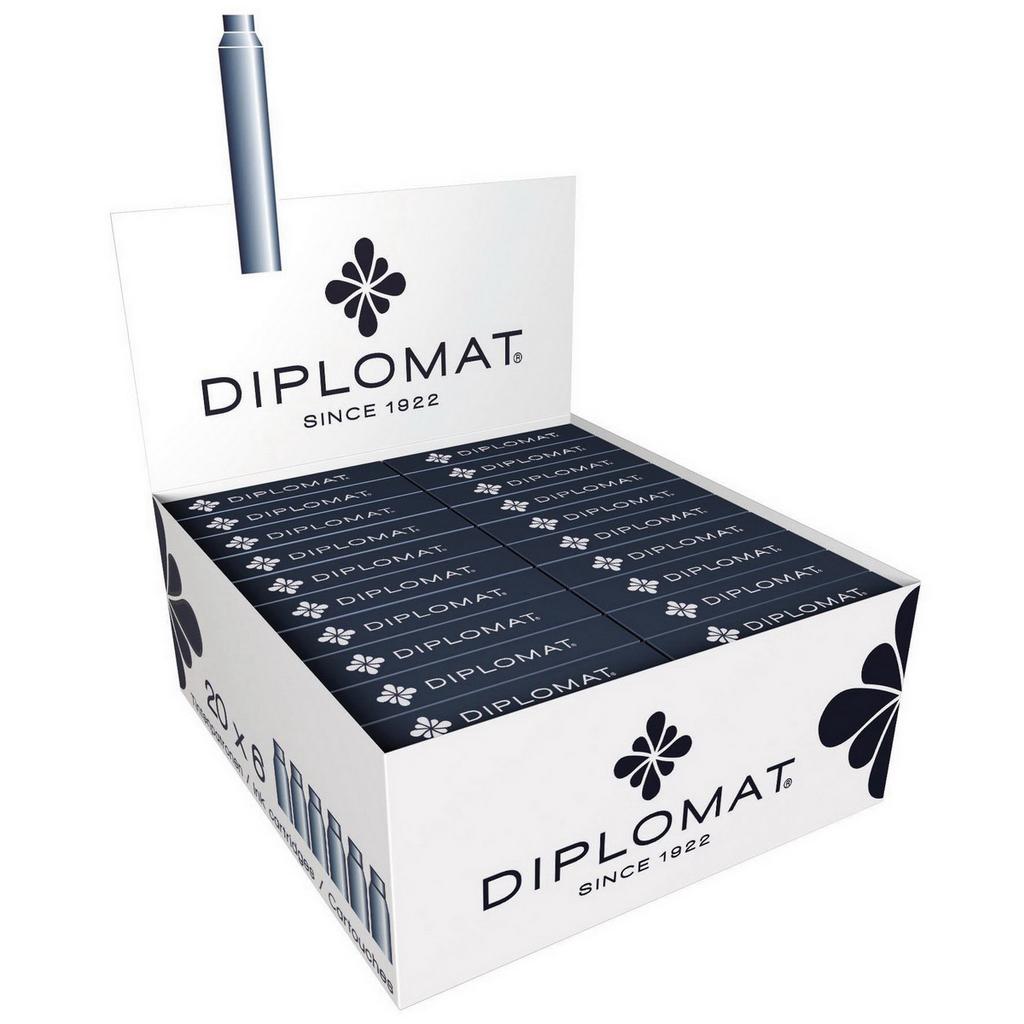 Diplomat Bombičky, čierne / 6 ks