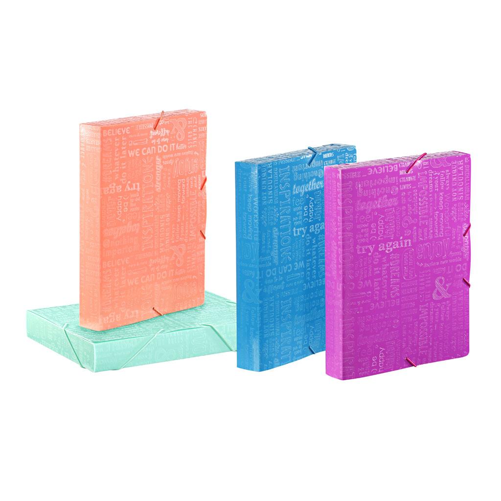 Viquel Box s gumičkou Words, A4, 4,5 cm, PP
