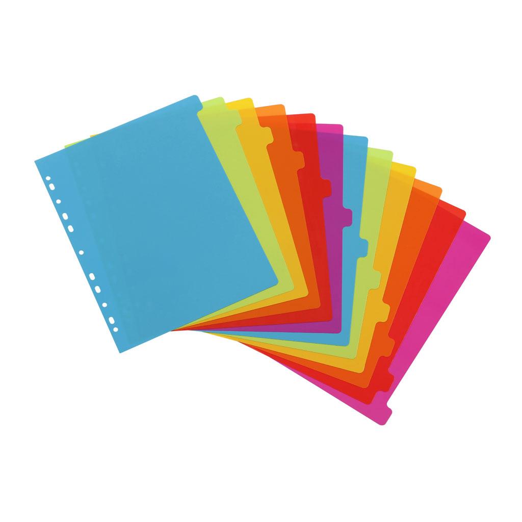 Viquel Celoplastové registre Happy Fluo A4 maxi, 12 farieb
