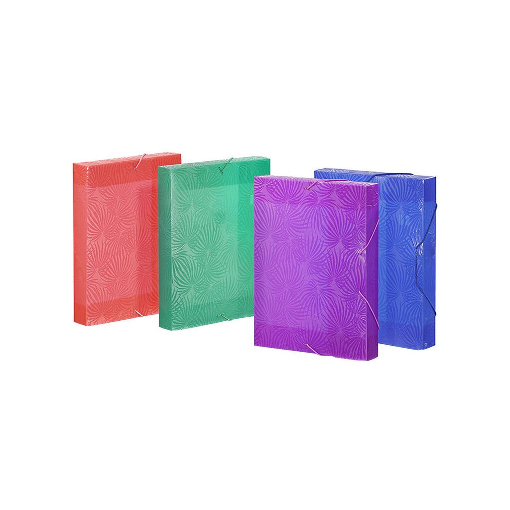 Viquel Box s gumičkou Tropicool, A4, 4,5 cm, PP, mix farieb