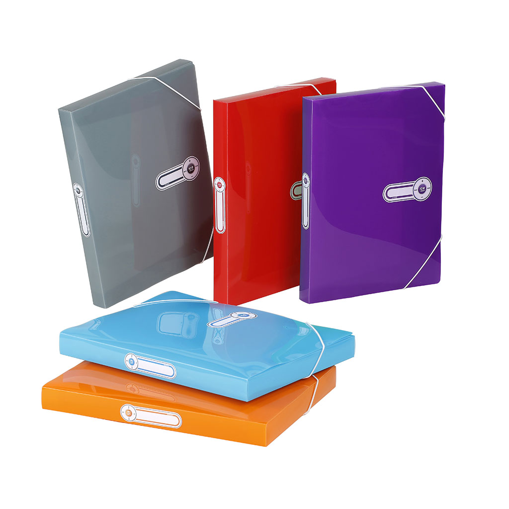 Viquel Box s gumičkou Ice Class, A4, 3 cm, PP, mix farieb