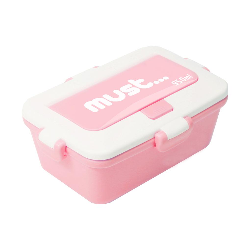 Desiatový box s vidličkou a lyžičkou, 19,5 x 11,9 x 7,1 cm
