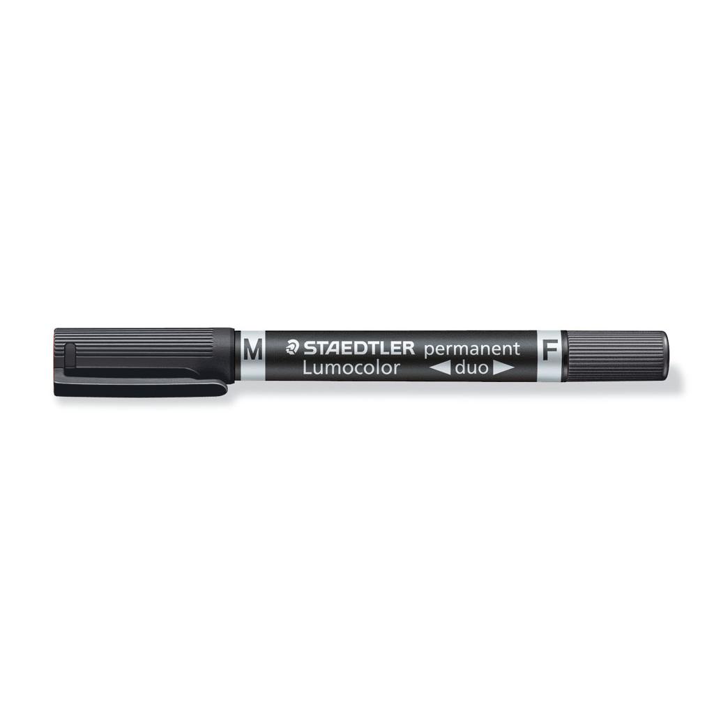 Staedtler Popisovač permanent obojstranný 348-9, hrot F 0,6 mm / M 1,5 mm, čierny
