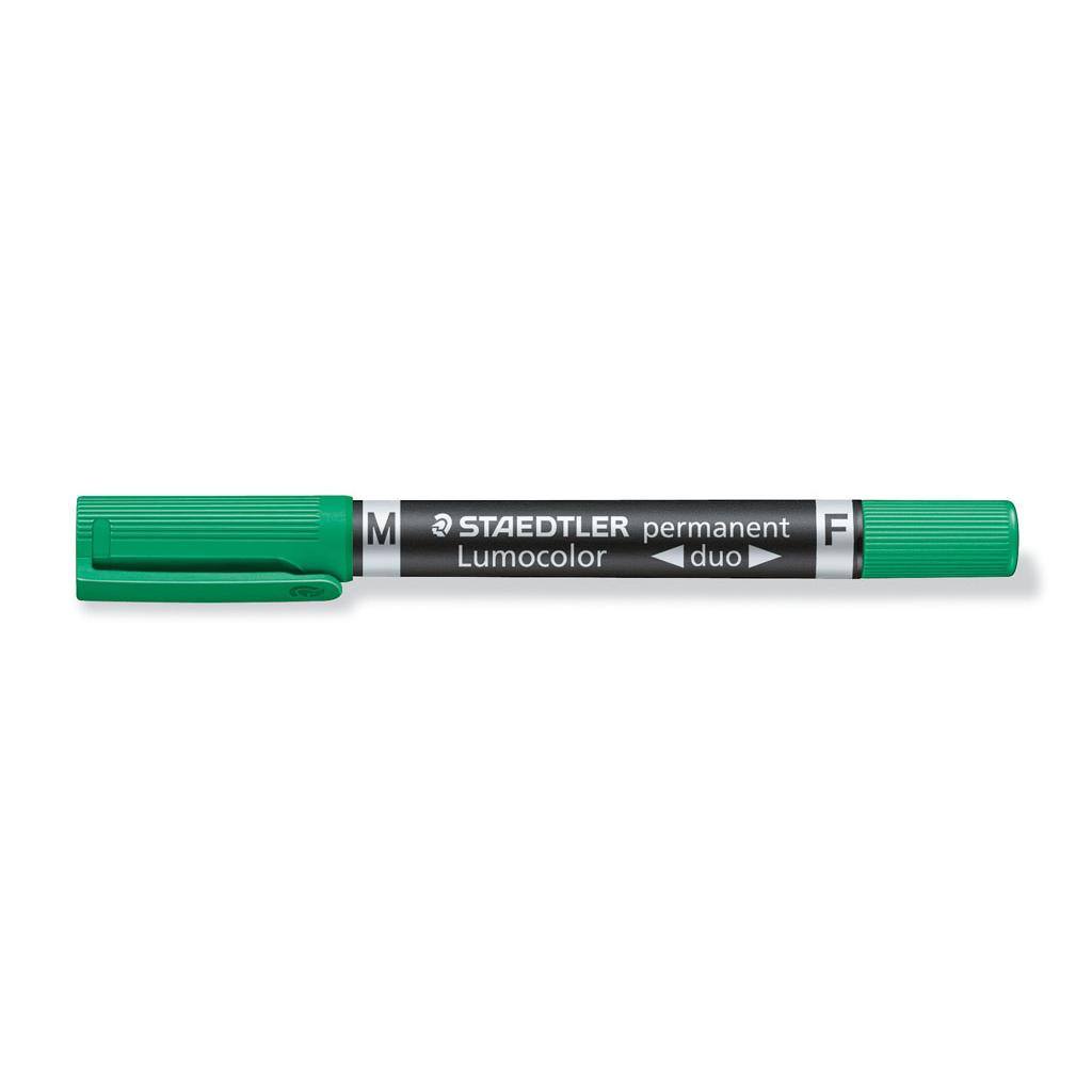 Staedtler Popisovač permanent obojstranný 348-5, hrot F 0,6 mm / M 1,5 mm, zelený