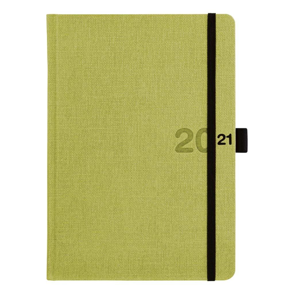 Týžd. pozn. diár CANVAS zelený 2021 / A5 (148x210 mm)