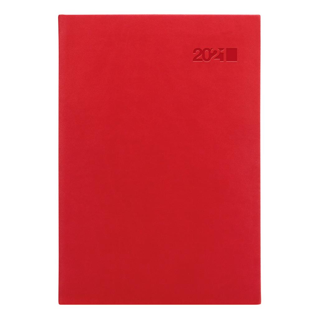 Denný diár VIVA červená 2021 / A5 (148x210 mm)