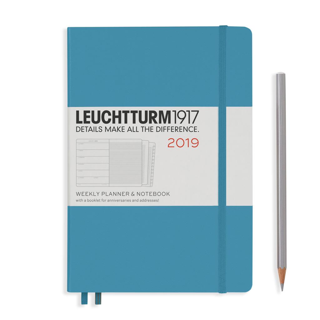 LT Týžd. diár + pozn. 2019, modrý (A5)