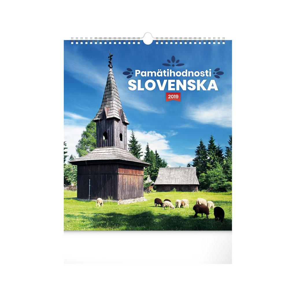 Pamätihodnosti Slovenska 2019 / NK (30x34 cm)
