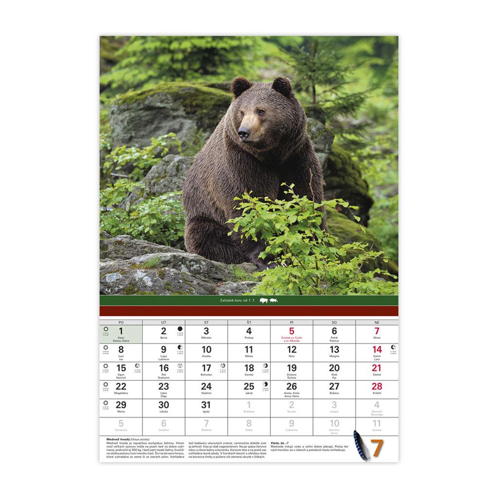 Poľovnícky kalendár 2019 / N34 (340x485 mm)