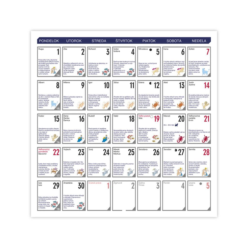 Lunárny kalendár 2019 / N51 (300x300 mm)