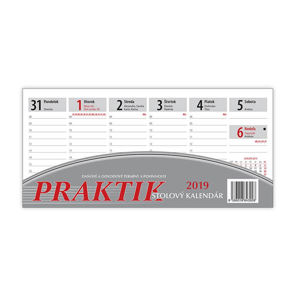 Praktik kalendár 2019 / S25 (210x100 mm)