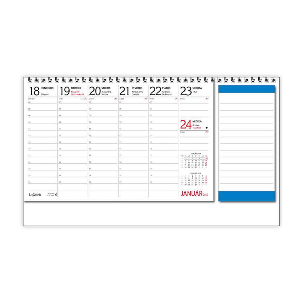 Daňový termínový kalendár 2019 / S26 (310x150 mm)