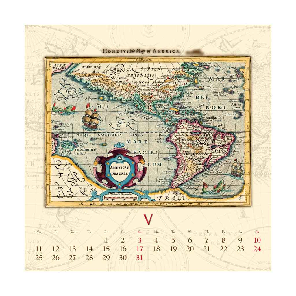 Antique maps 2020 / N04 (420x420 mm)