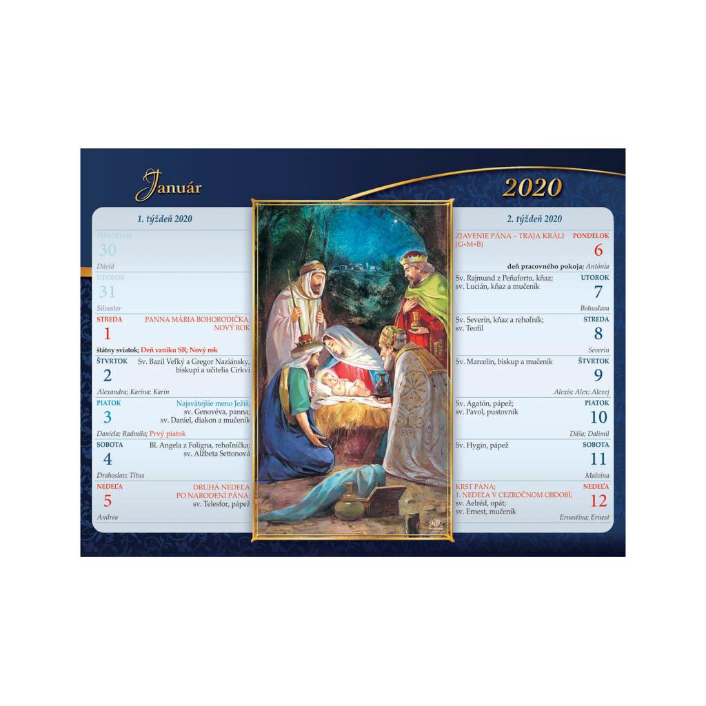 Katolícky kalendár 2020 / S11 (220x165 mm)