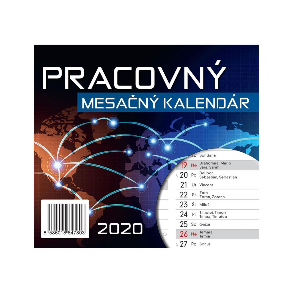 Prac. mesačný kalendár 2020 / S27 (155x140 mm)