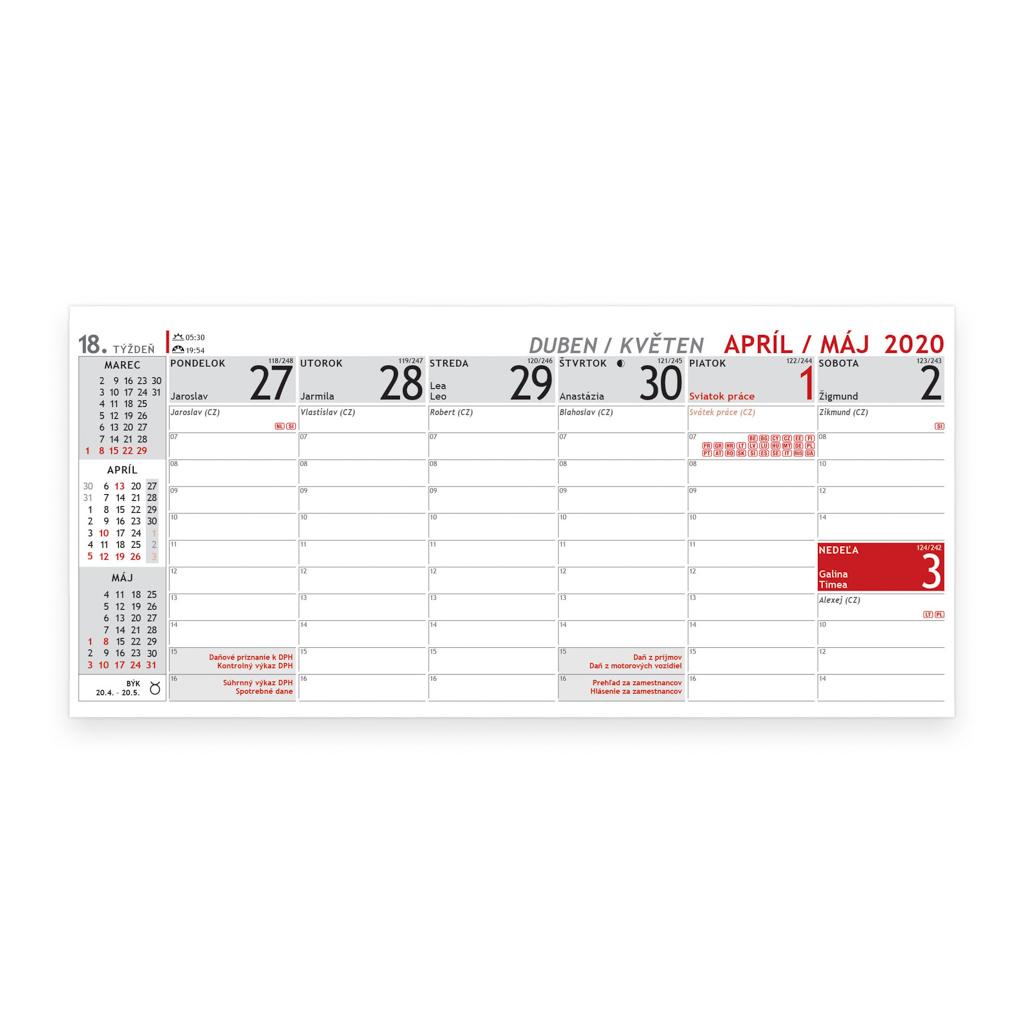 Plánovací kalendár 2020 / S30 (297x138 mm)