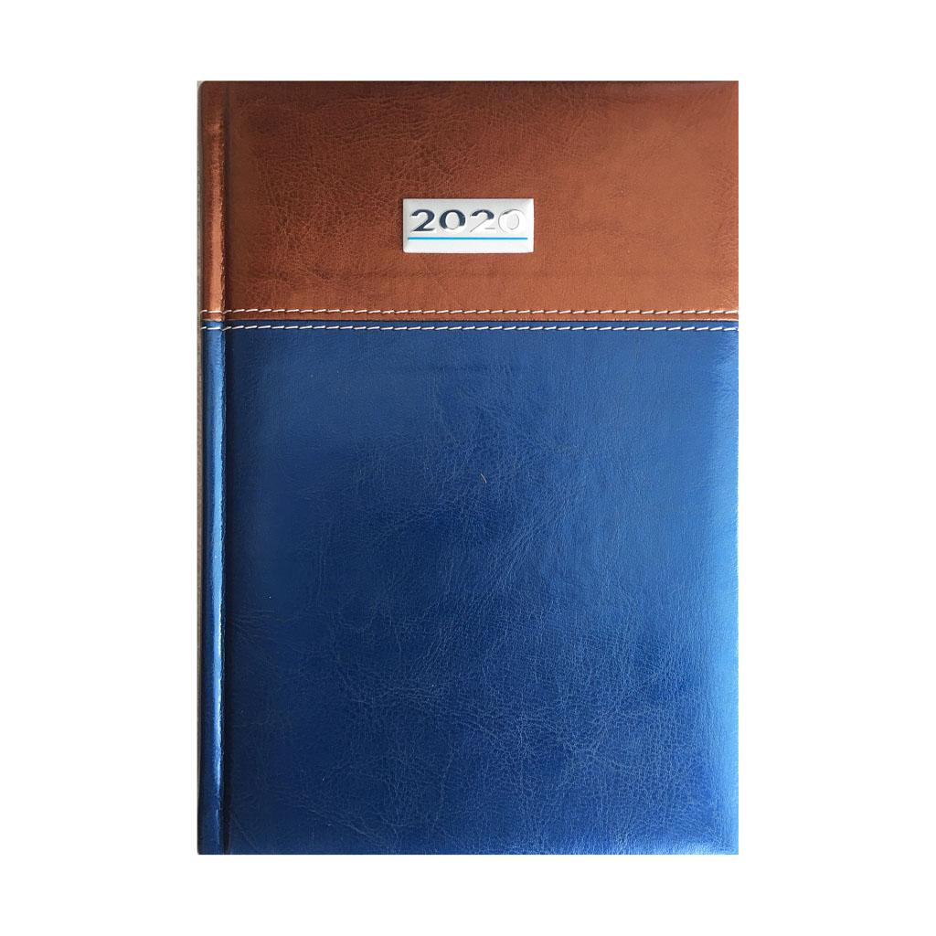 Denný diár TOSCANA modro-hnedý 2020 (142x204 mm)