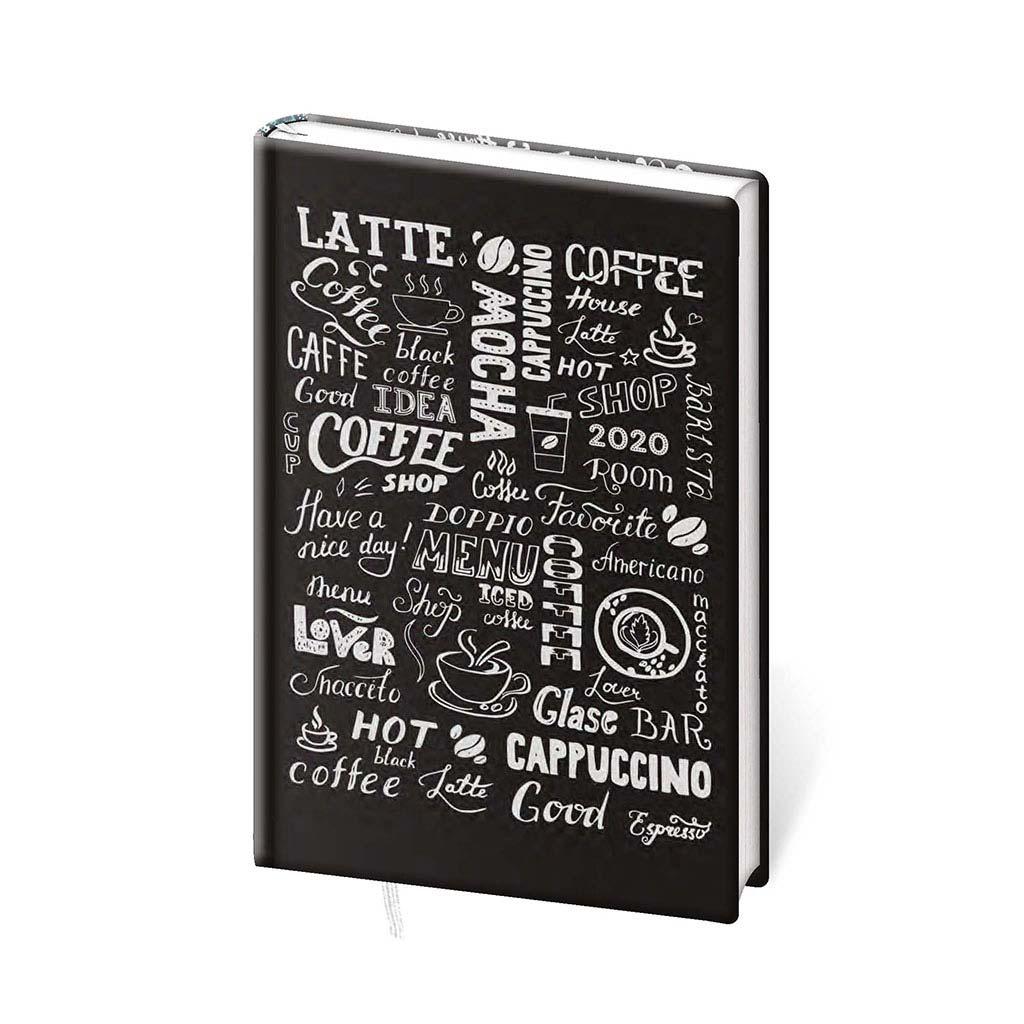 Diár 2020 týždenný, soft - COFFEE, A6 (80x150 mm)
